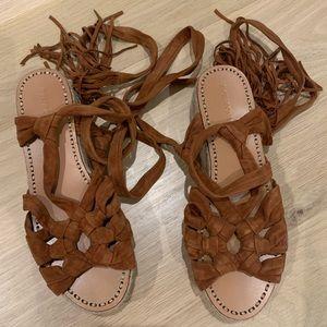 Sigerson Morrison Platform Lace Up Sandals